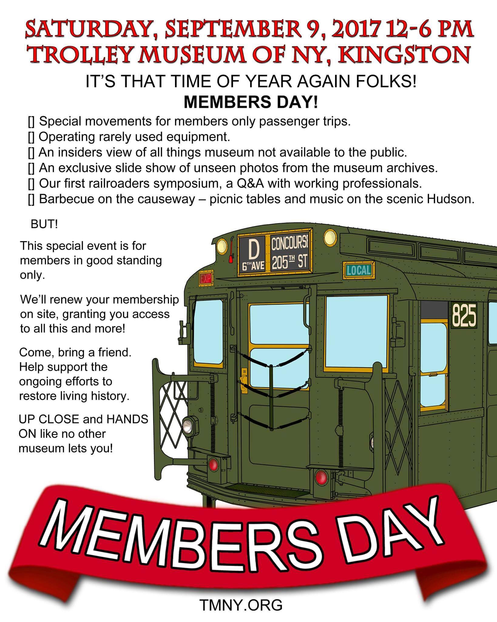 Members Day 2017! Saturday, September 9th from 12 Noon - 6:00pm